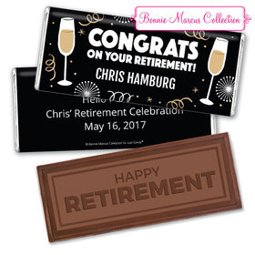 Personalized Bonnie Marcus Collection Retirement Cheers Embossed Happy Retirement Chocolate Bar