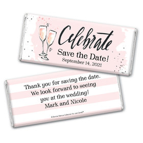 Bonnie Marcus Collection Personalized Chocolate Bar Wrappers Chocolate and Wrapper The Bubbly Custom Save the Date