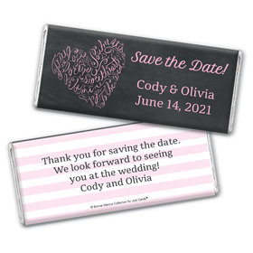 Bonnie Marcus Collection Personalized Chocolate Bar Wrappers Chocolate and Wrapper Sweetheart Swirl Save the Date