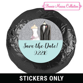 "Bonnie Marcus Collection Save the Date Forever Together 1.25"" Stickers (48 Stickers)"