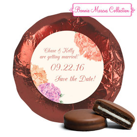 Bonnie Marcus Collection Save the Date Blooming Joy Milk Chocolate Covered Oreo Cookies Foil Wrapped (24 Pack)
