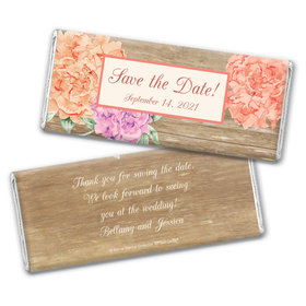 Bonnie Marcus Collection Personalized Chocolate Bar Wrappers Chocolate and Wrapper Blooming Joy Save the Date