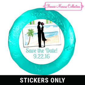 "Bonnie Marcus Collection Save the Date Tropical I Do 1.25"" Stickers (48 Stickers)"