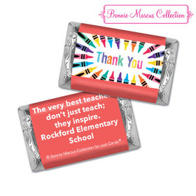 Personalized Bonnie Marcus Collection Teacher Appreciation Colorful Thank You Hershey's Miniatures