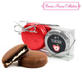 Bonnie Marcus Collection Teacher Appreciation Apple 2PK Belgian Chocolate Covered Oreo Cookies