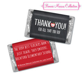 Personalized Bonnie Marcus Collection Teacher Appreciation Apple Hershey's Miniatures