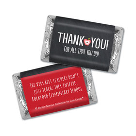 Personalized Bonnie Marcus Collection Teacher Appreciation Apple Mini Wrappers