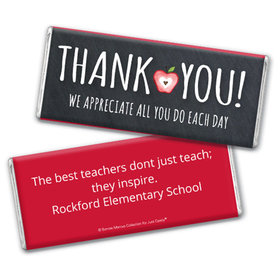 Personalized Teacher Appreciation Apple Assembled Chocolate Bar