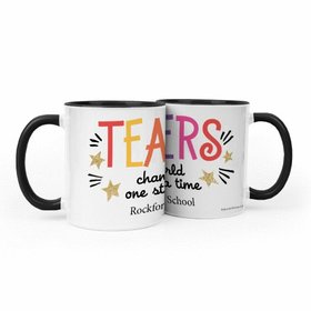 Personalized Bonnie Marcus Teacher Appreciation Gold Star 11oz Mug