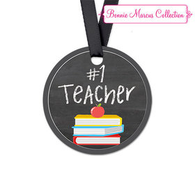 Bonnie Marcus Collection Round Books Teacher Appreciation Favor Gift Tags (20 Pack)