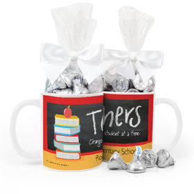 Personalized Bonnie Marcus Teacher Appreciation Books 11oz Mug Hershey's Kisses
