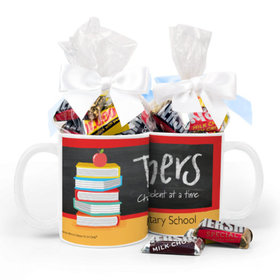 Personalized Bonnie Marcus Teacher Appreciation Books 11oz Mug Hershey's Miniatures