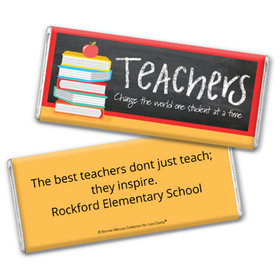 Personalized Teacher Appreciation Books Chocolate Bar Wrappers