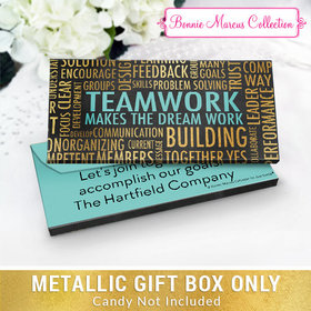 Deluxe Personalized Word Cloud Teamwork Metallic Candy Bar Cover