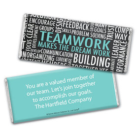 Personalized Bonnie Marcus Collection Teamwork Word Cloud Assembled Chocolate Bar