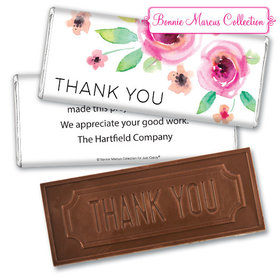 Personalized Bonnie Marcus Thank You Bouquet Embossed Chocolate Bar