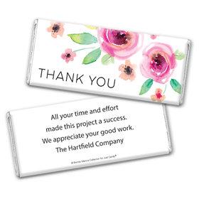 Personalized Bonnie Marcus Thank You Bouquet Chocolate Bar Wrappers Only