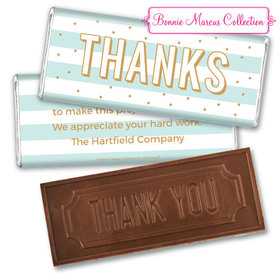 Personalized Bonnie Marcus Thank You Stripes and Dots Embossed Chocolate Bar