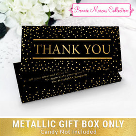 Deluxe Personalized Thank You Gold Dots Chocolate Bar in Metallic Gift Box