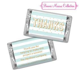 Personalized Bonnie Marcus Thank You Stripes and Dots Hershey's Miniatures