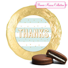 Personalized Bonnie Marcus Thank You Stripes and Dots Chocolate Covered Oreos (24 Pack)