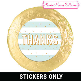 "Personalized Bonnie Marcus Thank You Stripes and Dots 1.25"" Stickers (48 Stickers)"
