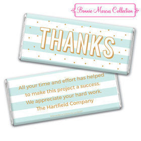 Personalized Bonnie Marcus Thank You Stripes and Dots Chocolate Bar & Wrapper