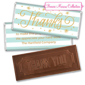 Personalized Bonnie Marcus Thank You Stars and Stripes Embossed Chocolate Bar