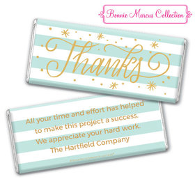 Personalized Bonnie Marcus Thank You Stars and Stripes Chocolate Bar & Wrapper