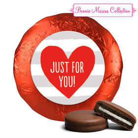 Bonnie Marcus Collection Valentine's Day Stripes Chocolate Covered Oreos