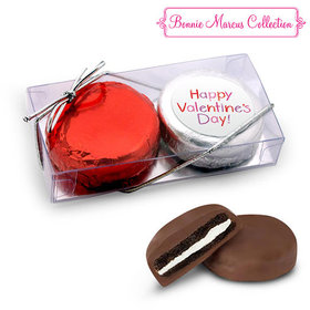 Happy Valentine's Day Message 2Pk Chocolate Covered Oreo Cookies