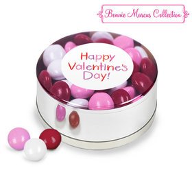 Valentine's Day Message Milk Chocolate Minis Small Silver Plastic Tin