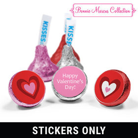 "Valentine's Day Hearts 3/4"" Stickers (108 Stickers)"