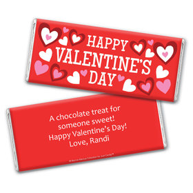 Bonnie Marcus Personalized Valentine's Day Solid Red Chocolate Bar & Wrapper