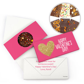 Personalized Bonnie Marcus Valentine's Day Glitter Hearts Gourmet Infused Chocolate Bars