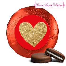 Bonnie Marcus Collection Valentine's Day Glitter Heart Milk Chocolate Covered Oreos