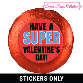 "Bonnie Marcus Collection Valentine's Day Superhero 1.25"" Stickers (48 Stickers)"