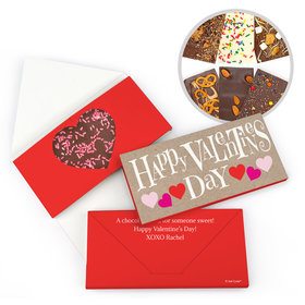 Personalized Bonnie Marcus Valentine's Day Cute Hearts Gourmet Infused Chocolate Bars