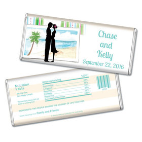Bonnie Marcus Collection Personalized Chocolate Bar Wedding Favors Tropical I Do Wedding