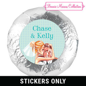 """Bonnie Marcus Collection Wedding Love Me Tender 1.25"""" Stickers (48 Stickers)"""