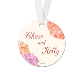 Personalized Bonnie Marcus Collection Round Beautiful Love Wedding Favor Gift Tags (20 Pack)
