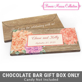 Deluxe Personalized Blooming Joy Wedding Candy Bar Cover