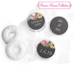 Personalized Bonnie Marcus Wedding Flowers in Chalk Life Savers Mints