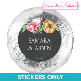 "Personalized Bonnie Marcus Wedding Flowers in Chalk 1.25"" Stickers (48 Stickers)"