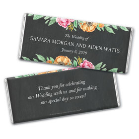 Personalized Bonnie Marcus Wedding Flowers in Chalk Chocolate Bar Wrappers Only