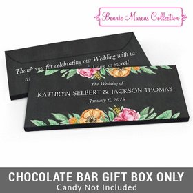 Deluxe Personalized Flowers Wedding Candy Bar Cover
