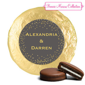 Personalized Bonnie Marcus Wedding Divine Gold Milk Chocolate Covered Oreos (24 Pack)