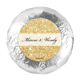 """Personalized Bonnie Marcus Wedding All That Glitters 1.25"""" Stickers (48 Stickers)"""