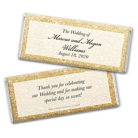 Personalized Bonnie Marcus Wedding All That Glitters Chocolate Bar Wrappers Only