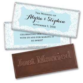 Personalized Bonnie Marcus Wedding Hershey's Embossed Chocolate Bar & Wrapper